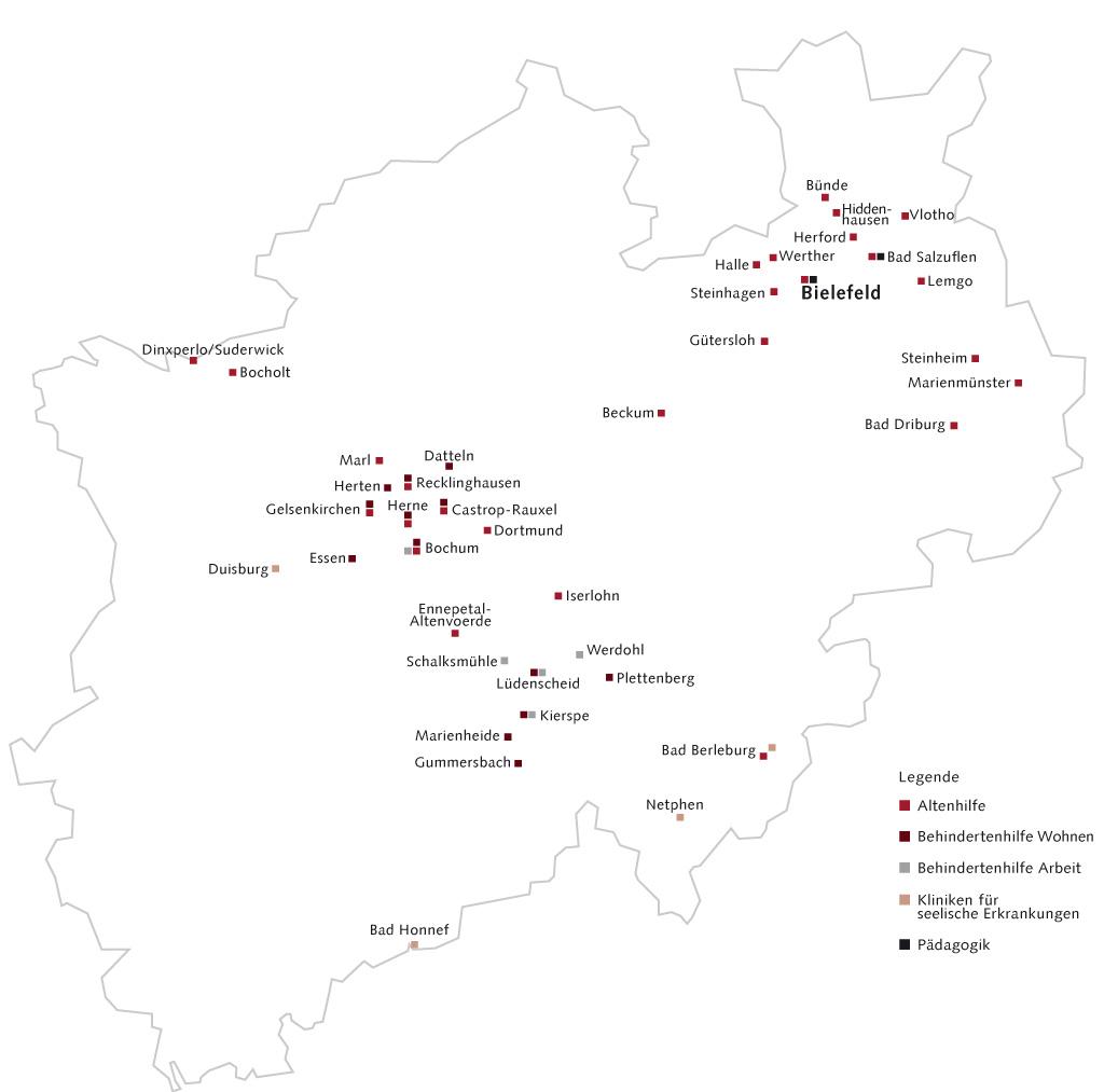 Arbeitsfelder Standorte Johanneswerk